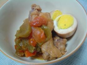 鶏肉のさっぱり煮+トマト
