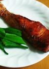 鮭のカレームニエル(減塩レシピ)
