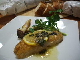 白身魚のムニエル レモンバターソース