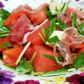 スイカとトマトのリコピンたっぷりサラダ☆