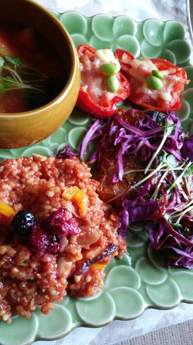 蛸入り玄米ご飯のトマトリゾット