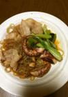 タコの韓国風チャプチェ