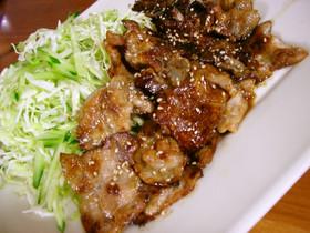 薄切り肉で★豚の生姜焼き