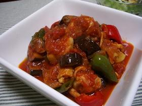 チキンと野菜のトマト煮(^∇^)