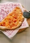スプーンで混ぜ混ぜグリルでピザ
