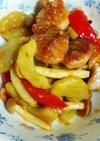 鶏肉と白瓜の味噌炒め(減塩レシピ)