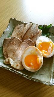 フライパン1つの簡単煮豚&とろ~り味玉の写真