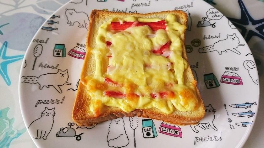 旨ウマ♪朝ごはん!カニかまチーズトースト