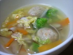 具沢山!!鶏団子スープ