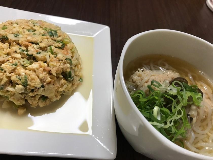 【糖質制限】豆腐炒飯