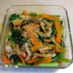簡単 お鍋1つ 小松菜油揚げ舞茸煮浸し
