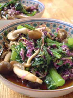 菊花と菊菜の酢の物