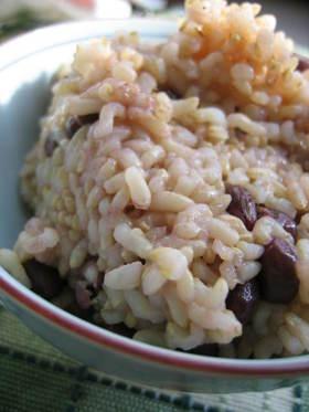玄米小豆ご飯