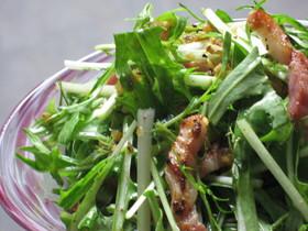 水菜のペペロンチーノサラダ