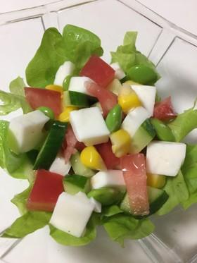 マヨネーズ寒天のサラダ