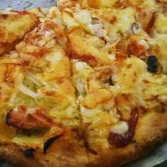 キャンプめし☆フライパンで簡単ピザ
