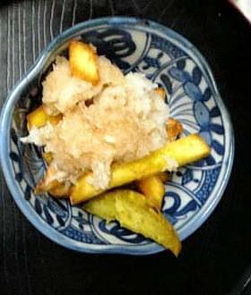 さっぱりポン酢味の揚げサツマイモ