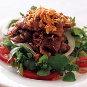 クレソンと牛肉のサラダ