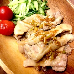びっくり炊きで作る♪玄米海南チキンライス