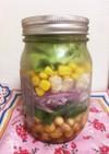 ジャーサラダ 豆と鶏胸肉