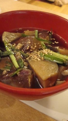 ✿麺つゆで茄子の煮びたし✿にんにく風味✿