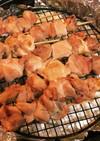 アラジンのグリルパンで塩焼き鳥