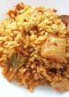 塩、醤油を使わないパラパラキムチ炒飯!