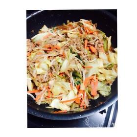 冷蔵庫の余り物でOK!野菜炒め☆