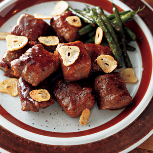 豆腐のサイコロステーキ