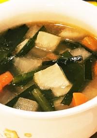 大根・人参・芋・ニラ☆コロコロ野菜スープ