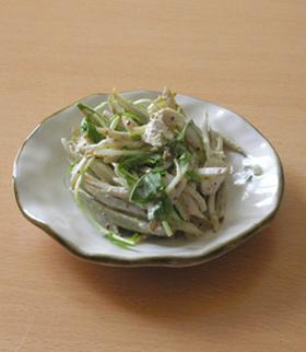 蒸し鶏とごぼうのサラダ