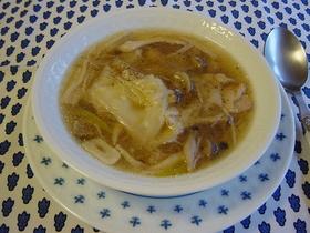ジワっと温まる☆中華風きのこスープ