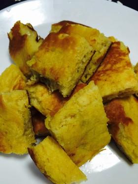 HM豆腐バナナ味見で無くなるホットケーキ