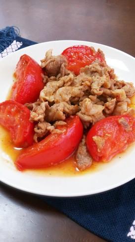 トマトと豚肉の炒めもの