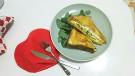 贅沢すぎる☆美味しい朝食トーストサンド