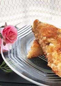 朝食に♪米粉バナナキャラメルパンケーキ♡
