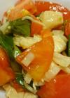 トマトとささみのバジル風味サラダ