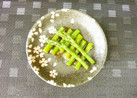 簡単アスパラの亜麻仁油サラダ