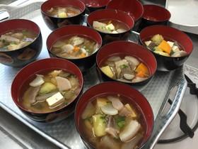 しし汁(味噌味)(高知県大川村の郷土食)
