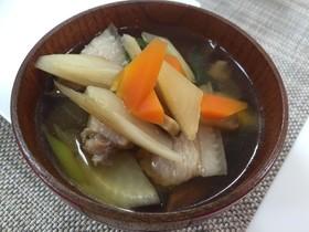 しし汁(醤油味)(高知県大川村の郷土食)