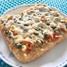 炒り豆腐リメイク♪大葉チーズでトースト