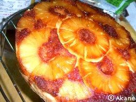 パイナップル・アップサイドダウンケーキ