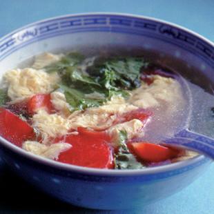 トマトと卵の中国風スープ