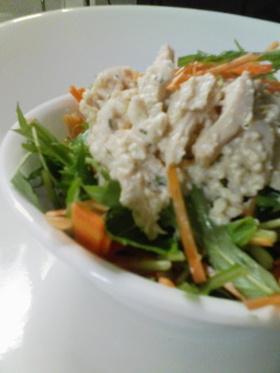 ヘルシー☆ノンオイルのクリーミー鶏サラダ