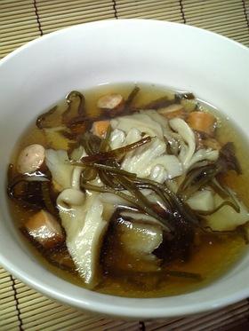 塩こんぶと舞茸でOh~簡単スープ♪