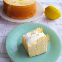 米粉のレモンシフォンケーキ