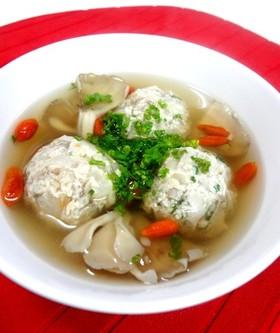 舞茸団子とクコのスープ