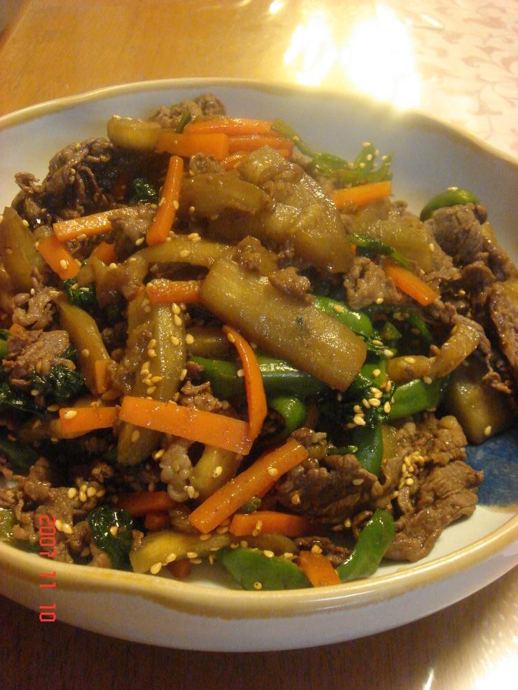 少し甘めの肉野菜炒め♫♬