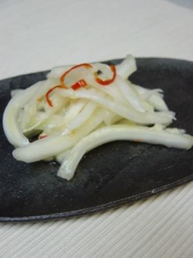 ラーパーツァイ★ピリ辛白菜軸の甘酢漬け