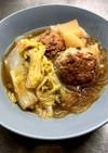 みんな大好き肉団子と白菜と大根春雨スープ